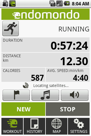 Endomondo Android - app